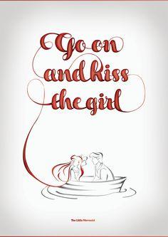 Disney Typography poster- Little Mermaid