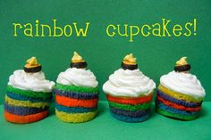 Sugar Swings! Serve Some: rainbow cupcakes....!