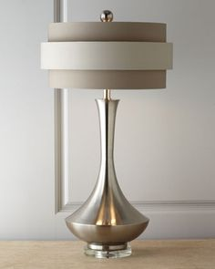 Neutral Orbit-Shade Table Lamp by John-Richard Collection at Horchow.