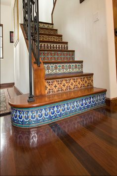 Colorful tile staircase