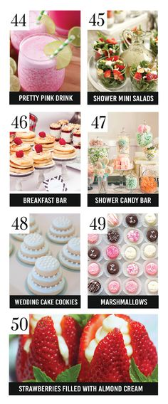 Quick and Easy Bridal Shower Food Ideas