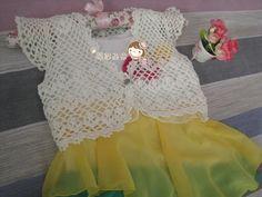 crochet beauty dress and top for women Gilet Crochet, Crochet Cardigan, Crochet For Kids, Crochet Baby, Crochet Children, Handicraft, Lace Shorts, Ruffle Blouse, Animales