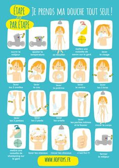 I print my poster: I take my shower alone - - Uncategorized 733242383061307605 Autism Education, Montessori Education, Educational Activities, Activities For Kids, Poster S, Baby Development, Hygiene, Kids And Parenting, Diy For Kids