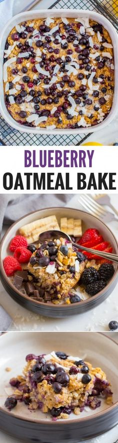 Delicious blueberry BAKED OATMEAL is filled with scrumptious homemade goodness. Add your favorite toppings. Perfect for Sunday brunch or every day. An easy, healthy recipe! Brunch Recipes, Breakfast Recipes, Breakfast Ideas, Brunch Ideas, Breakfast Dishes, Vegan Breakfast, Easter Recipes, Appetizer Recipes, Dinner Recipes