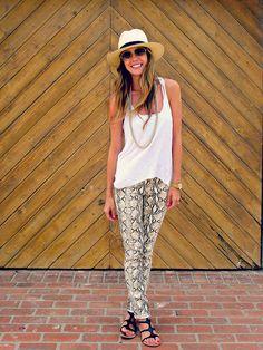 snakeprint pants