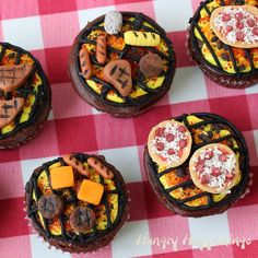 Grill Cupakes Topped with Pizzas, Potatoes, Corn and More