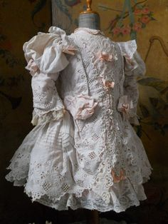 ~~~ Wonderful Hand Embroidery French BeBe Dress ~~~ from whendreamscometrue on Ruby Lane