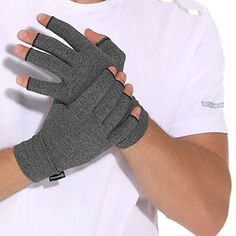 Arthritis Compression Gloves Relieve Pain from Rheumatoid, RSI,Carpal Tunnel, Hand Gloves Fingerless for Computer Typing and Dailywork, Support For Hands And Joints by DISUPPO (Large)