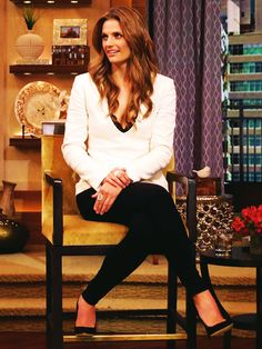 Stana Katic - Live! with Kelly & Michael - April 1, 2013