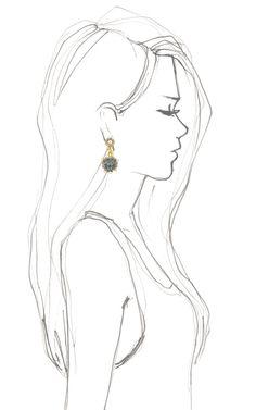 Shinde Lion Drop Earrings by Fenton - Kresba Tužkou, Kresby Tužkou, Náčrty Oděvních Návrhů, Výtvarné Reference, Techniky Kreslení, Návody Na Kreslení, Módní Skicy, Módní Ilustrace, Co Nakreslit