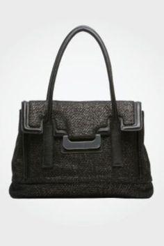DVF - Harper Laurel Metallic Tweed Bag