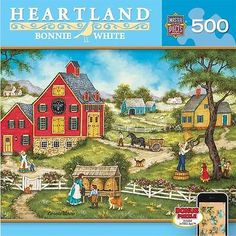 Masterpieces - Heartland Bonnie White Telling the Bees Jigsaw Puzzle - 500 pc