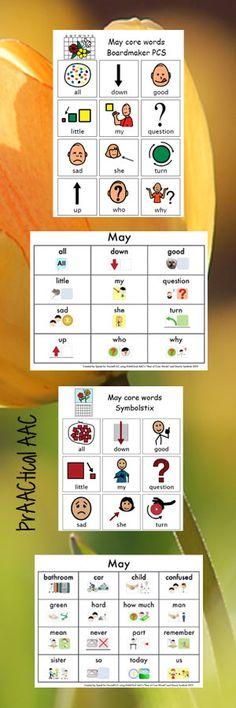 Core Vocabulary Resources for May