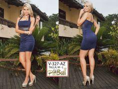Vestido Colombianos PitBull  +Modelos en: http://www.ropadesdecolombia.com/index.php?route=product/category&path=77  #vestido #corto #noche #fiesta #ajustado #ropa #moda #elegante #azulmarino #detalles