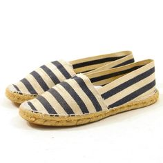 Espadrilles in Navy Blue & White Striped Cotton / by nickiefrye, $36.00