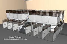 Mason Company, Double Deck Kennel, stacked kennel