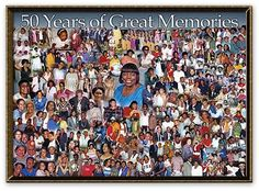 "50th Birthday Photo Collage  [48""x34"" with over 130 photos!]"