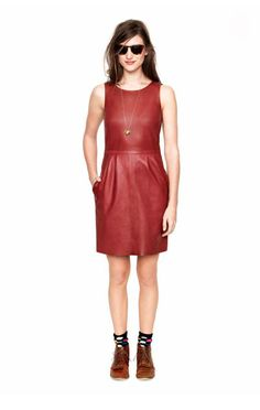 Madewell Fall 2012 Collection - little leather dress.. not sure if i could really pull this off.