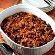 Lisa's Dinnertime Dish:  Lisa's Smoky Three Bean Bake