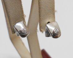 Vintage Ohrstecker - Kleine 925er Silberohrstecker mit Kritall SO137 - ein Designerstück von Atelier-Regina bei DaWanda