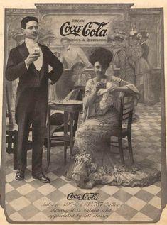 Na Belle Epoque, já existia a Coca-Cola, que nos anúncios da época era vendido como uma bebida carbonada e refrescante que sustentava e combatia a fadiga.