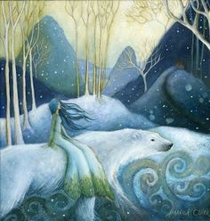 Earth Angels Art. Art and Illustrations by Amanda Clark: Winter Fairy Tales in August!