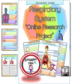 By Maggie's Files- For Secondary Grades. The Respiratory System online research is a 25 pages curriculum-focused project design to help your secondary students to investigate, enrich and learn about the human Respiratory System. This online project will focus on finding information about the structures, functions, processes and diseases of the Respiratory System.  http://www.teacherspayteachers.com/Product/RESPIRATORY-SYSTEM-ONLINE-RESEARCH-PROJECT-SECONDARY-1402451