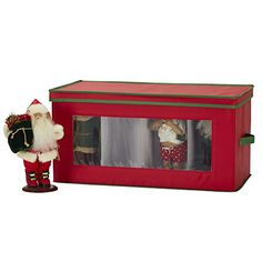 Household Essentials 554RED Figurine Holiday Vision Storage Box Chest, 8-Piece Christmas Ornament Storage, Holiday Storage, Christmas Figurines, Holiday Ornaments, Christmas Decorations, Decorative Storage, Decorative Pillows, Chest Furniture, Storage Boxes