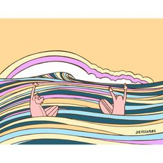 'Good Call' lots of colors = lots of stoke. Surf art by Joe Vickers