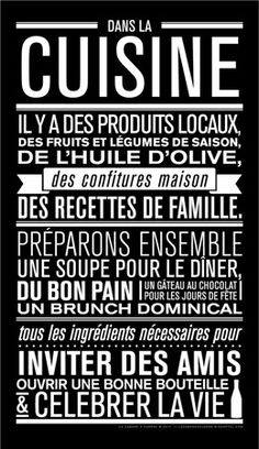 42 ideas home sweet hom affiche cuisine The Words, Positiv Quotes, Quote Citation, French Quotes, Typography, Lettering, Home Deco, Sentences, Decir No