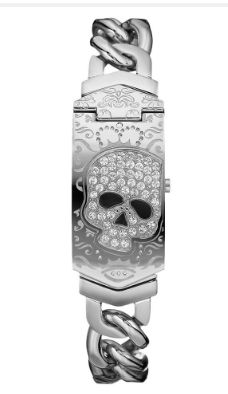☠   Marc Ecko Stainless Steel Skull Watch ☠