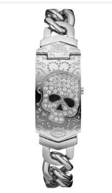 ☠   Marc Ecko Stainless Steel Skull Watch ☠