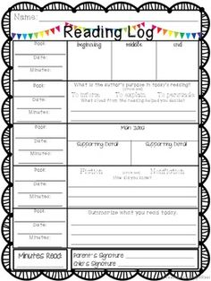 These 5 different Reading Logs focus on a variety of reading comprehension skills: Main Ideas and Details Story Elements Summarizing Making Connections Making Predictions . Reading Homework, Reading Logs, Reading Response, Reading Workshop, Guided Reading, Teaching Reading, Ar Reading, Reading Record, Homework Ideas