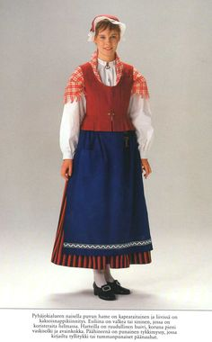 Pyhäjoki area (Finland) Folk Costume, Costumes, Classical Music Composers, Frozen Costume, Folk Clothing, Ethnic Dress, Traditional Dresses, Lady, Marimekko