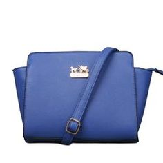 Coach City Saffiano Logo Small Blue Crossbody Bags ELG