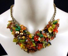 Magnificent Fall Foliage Choker Necklace and by RedsArtJewelry, $80.00