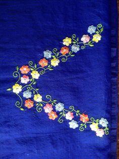 Buttonhole stitch kurta neck pattern