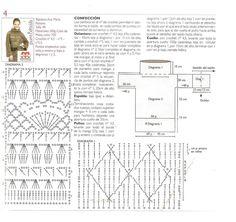 'Polera larga' - beautiful long taupe crochet tunic w/ cowl - FREE pattern in Spanish (2/2) (hva)