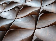 Walnut wall tiles can you imagine?