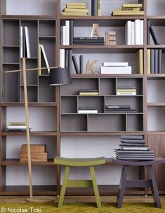 Folding Furniture, Built In Furniture, Modern Furniture, Furniture Design, Creative Bookshelves, Bookshelf Design, Smart Design, Decor Interior Design, Interior Styling