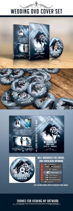 Wedding DVD Cover Template PSD. Download here: http://graphicriver.net/item/wedding-dvd-cover/11467237?ref=ksioks