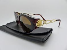 206435cd39f Genuine Rare Vintage Gianni Versace Sunglasses Mod 490 Col 900 New Old Stock  by VSOx on Etsy