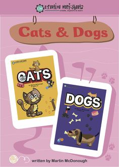 Cats & Dogs Set  We think these educational worksheets are purrrrrfect for the cat-lover in your house! Sit your child down with a feline friend and this set of educational cat-themed worksheets.  C is for Cat Puzzle pieces Cat Numbers Cat Vocabulary Cat Dice & Graphing Cut & Paste Odd one out What comes next? Correct letter Matching Cat Rhymes Writing Cat games much more  A small collection of fun worksheets for children with dogs as the theme! Just print and enjoy...The following dog…