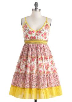 Country Rose Dress, #ModCloth