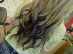 blond hair with purple and black tips