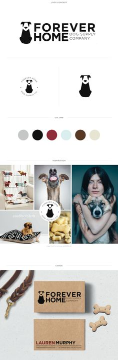 Forever Home Dog Supply Company | #brand #identity and #logo #design by Doodle…