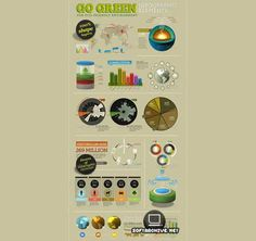 Go Green - Infographic Elements