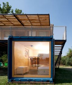 Containhotel / Artikul Architects a small mobile hotel from used shipping containers.