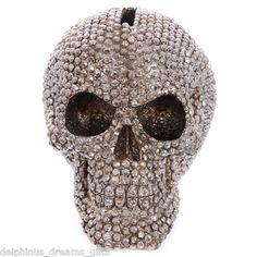 Beautiful bling skull money box
