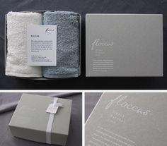 タオルを入れるギフトボックス